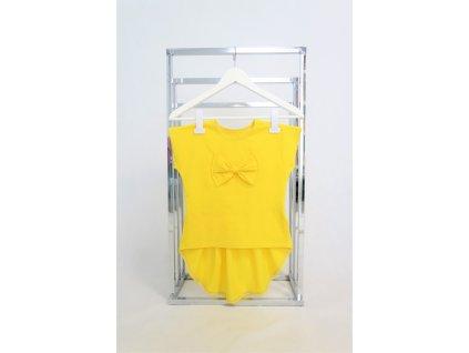 Pískacie tričko s KR riasené - žltá