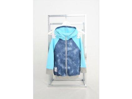 Pískacia bomberka jeans/azúrová