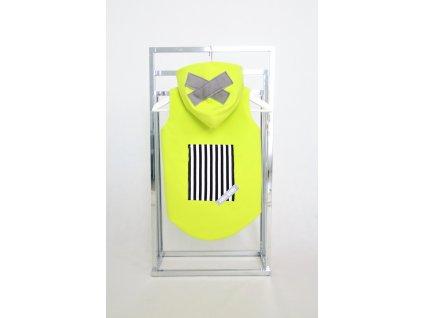 Zateplená softshellová vesta kiwi/sivá