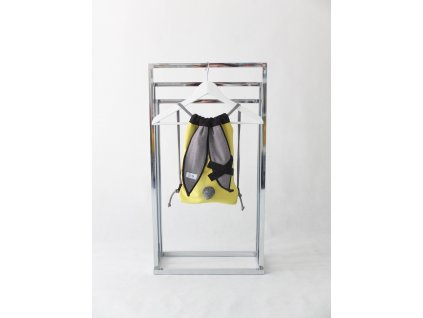 Pískací ruksak zajac s krížikom žlto-zelená