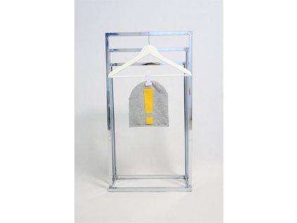 Pískacia šmolko čiapka so žltým soft výkričníkom