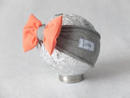 Pískacia čelenka sivá/svieža marhuľa