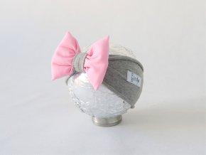 Pískacia čelenka sivá/baby ružová