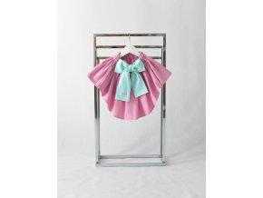 Sukňa s vlečkou ružová/mint