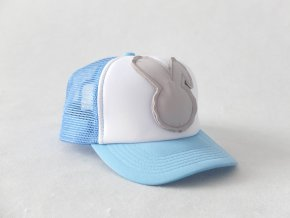 Šiltovka zajac - modrá/sivá