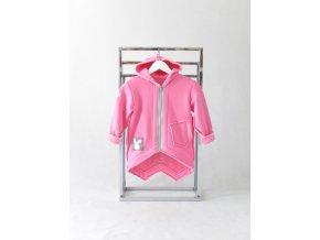 Pískací kabátik ružová