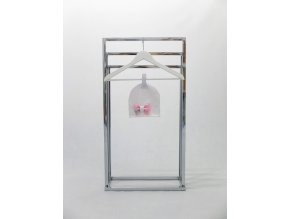 Pískacia bábo čiapka  s mašľou biela/baby ružová