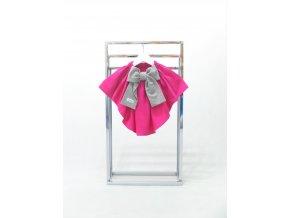 Sukňa s vlečkou tm. ružová/sivá