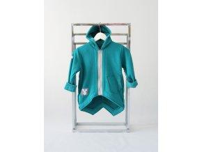 Pískací kabátik zelený