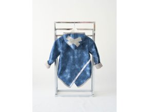Pískací softshellový kabátik riflový