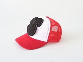 Šiltovka zajac - červená/čierna