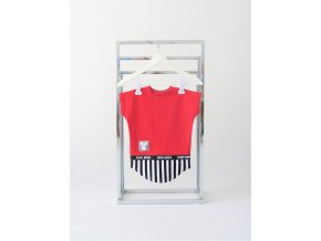 FunnyBunny predĺžené tričko - červená