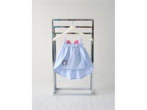 Úzka sukňa s vlečkou svetlomodrý pásik/jogurtovoružová