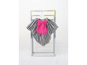 Vypínacia pískacia sukňa čierny pásik/cyklamén