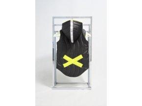 Zateplená pískacia vesta s krížikom čierna/žltá
