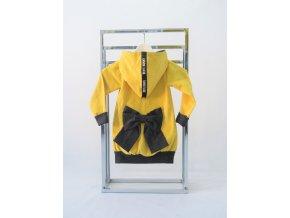 Pískací kabátik kordový žltý