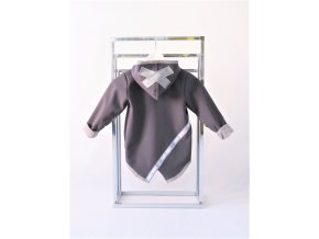 Pískací softshellový kabátik sivý