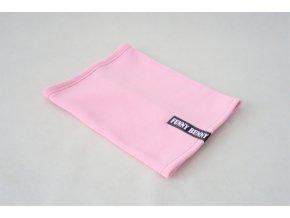 Teplý nákrčník baby ružový