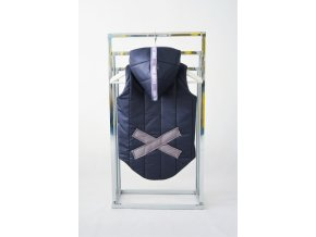 Zateplená pískacia vesta s krížikom modrá/sivá