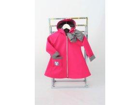 Pískací softshellový kabátik ružový