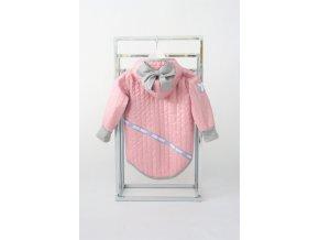 Prechodná pískacia bunda s mašľou ružová