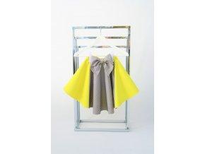 Točivá pískacia sukňa žltá