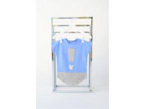 FunnyBunny predĺžené tričko s výkričníkom - modrá