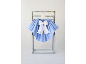 Sukňa s vlečkou nebíčkovo modrá/biela
