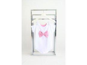 FunnyBunny predĺžené tričko s mašľou - biela