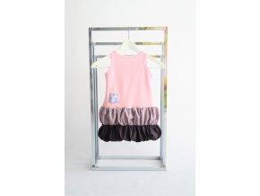 Pískacie muffinkové šaty - pudrovo ružová