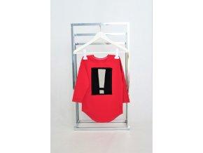 FunnyBunny tričko s ! aplikáciou - červená