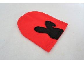 Pískacia flisová čiapka červená