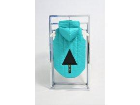 Zateplená pískacia vesta s trojuholníkom zelená