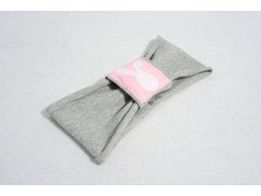 Čelenka s pískacím pútkom sivá/ružová