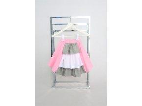 Španielska pískacia sukňa ružová
