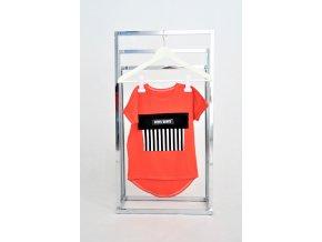 FunnyBunny tričko s vreckom červený pomaranč