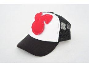 Šiltovka zajac - čierna/červená