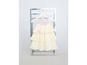 Pískacie sukňo-šaty vanilka