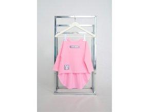FunnyBunny tričko s nariaseným zadným dielom baby ružová