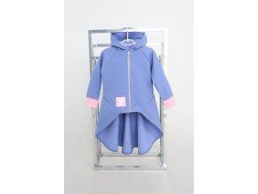 Pískací softshellový kabátik s nariaseným zadným dielom zafír