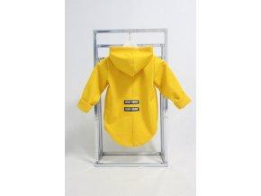 Pískací softshellový kabátik žltý