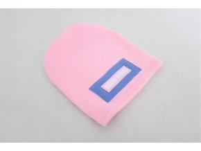 Pískacia flisová čiapka ružová/zafír