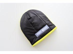 Zimná pískacia čiapka čierna/žltá