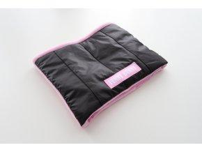 Zimný nákrčník čierna/baby ružová