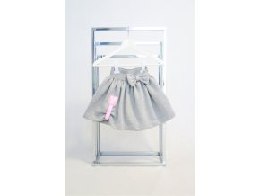 Pískacia vatičková sukňa sivá