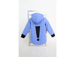 Zimná bunda s výkričníkom zafír/čierna