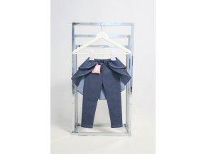 Pískacie legíny s dvojvolánovou vlečkou jeans modrá