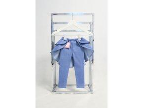 Pískacie legíny s dvojvolánovou vlečkou jeans svetlá modrá