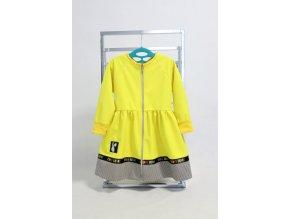 Softshellový riasený kabátik žltý