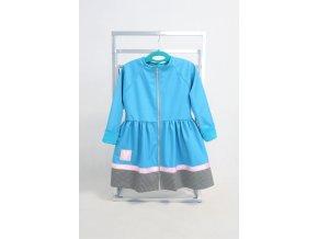 Softshellový riasený kabátik modrý